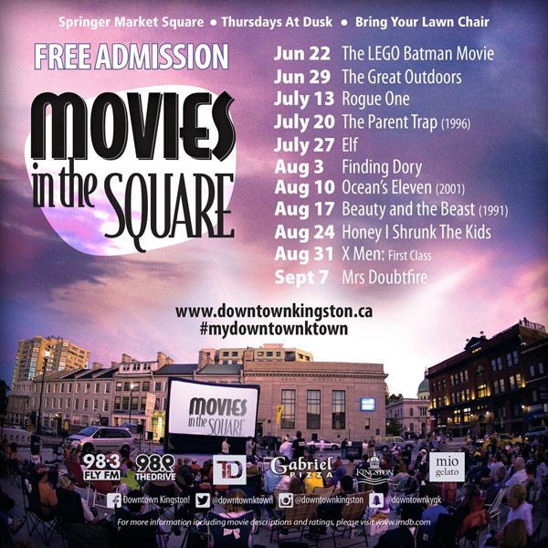 2017 movies in the square lineup
