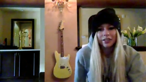 Avril Lavigne on Facebook Live