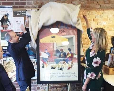 Balzacs Coffee RoastersKingston poster unveiling