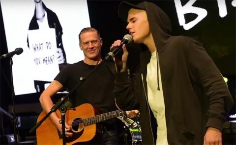 Justin Bieber and Bryan Adams