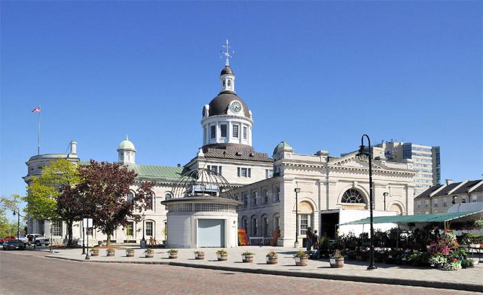 Behind Kingston City Hall