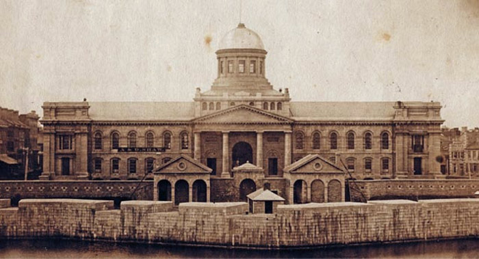 Kingston City Hall and Market Battery 1857