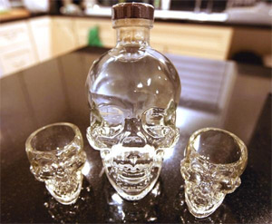 Crystal head vodka shot glasses