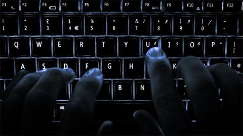 Dark lit keyboard