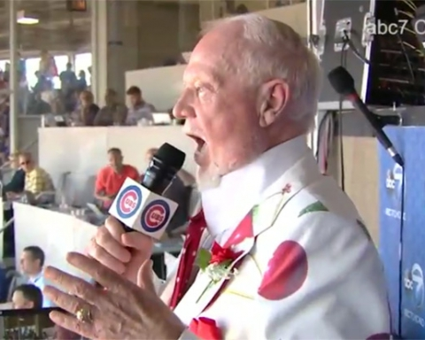 Don Cherry singing at Wrigley Stadium
