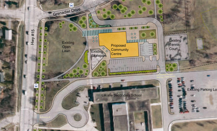 Proposed Kingston eastern community centre site map