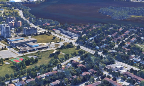 Aerial Google map - eastern community centre site