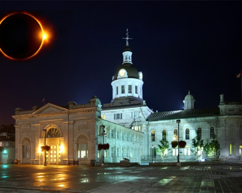 2024 eclipse in Kingston (photoshopped)