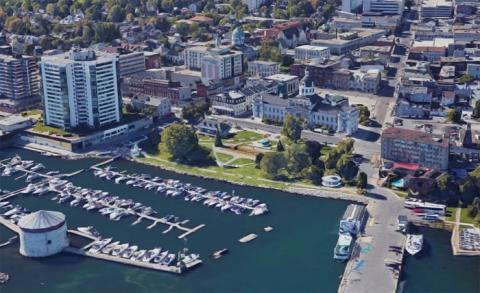 Kingston Google satellite over City Hall