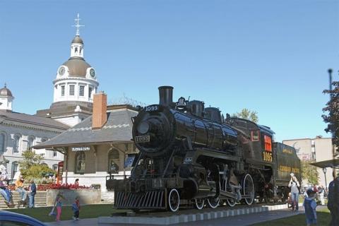 Locomotive 1095 in Kingston, Ontario