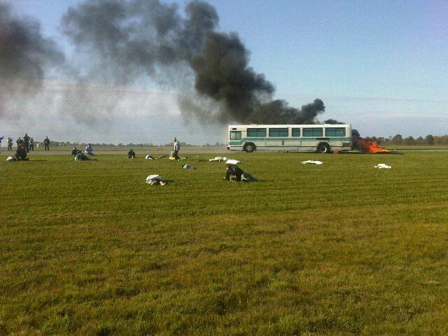 Photo of mock disaster exercise by Mark Gerettsen