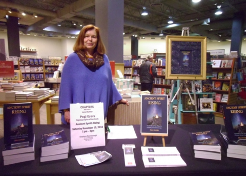 Pegi Eyers at Chapters bookstore