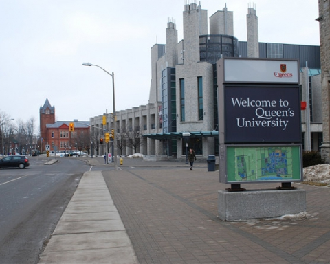 Queen's University welcome sign