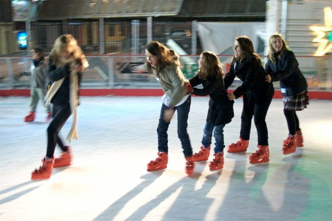 Girls Skating