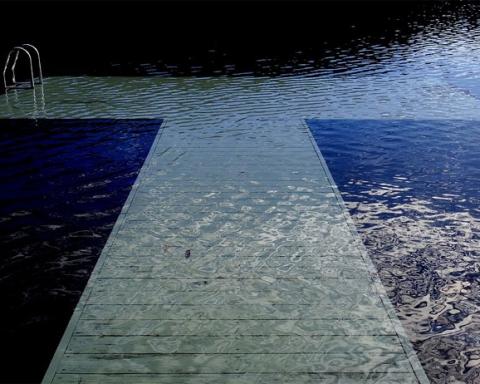 submerged dock