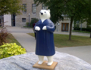Ursula the Polar Bear tour of Queen's University
