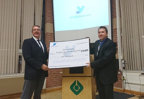 Youth Diversion cheque presentation